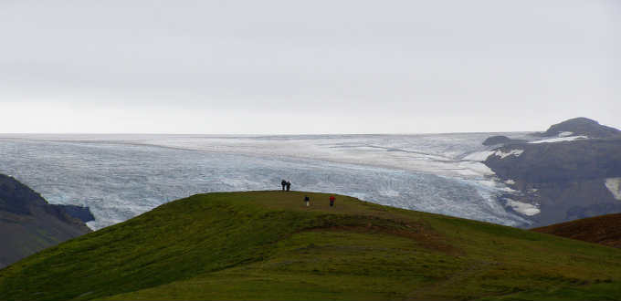 Vatnajokull glacier is a breathtaking sight but not a smart place to take a hike. PIC Andrea
