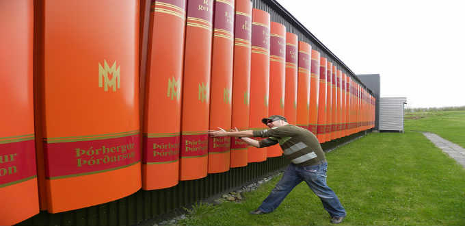 The hell is this giant bookshelf doing in middle of South Iceland