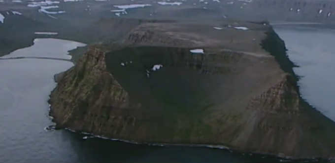 On inhospitable remote mountaintop in Iceland a fascinating sight