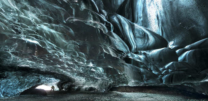 One thing about those awesome glacier caves in Iceland