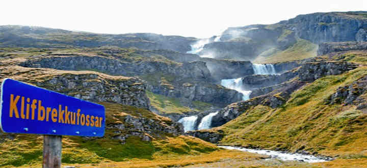 One truly awesome place on the lists of no one is Mjóifjordur with its majestic Klifbrekkufossa waterfall at its entrance. PIC east.is