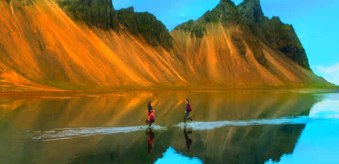 Indian music and Iceland landscape seem a perfect match