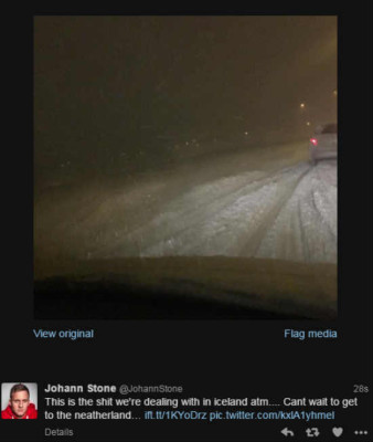 Of course the way back is gonna take four hours since the highest speed you can do in ice and snow and low visibility is about 40 km. PIC Twitter